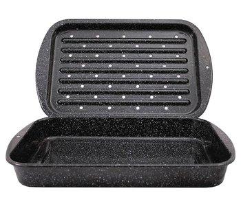 GraniteWare Roaster/Broiler Pan 2 Pieces