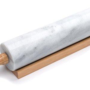 Fox Run Rolling Pin Marble wood handles