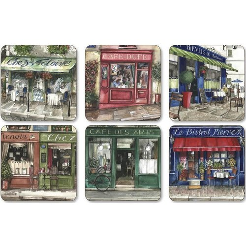 Pimpernel Coasters Cafe de Paris Pimpernel Set/6