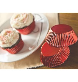 Fox Run Bake cup red foil Regular size