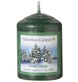 Colonial Candle COLONIAL Votive Winter Woods SCENTED