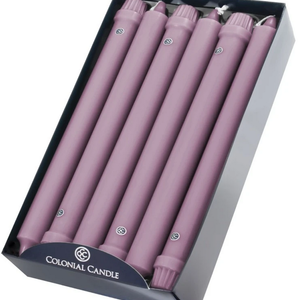 """Colonial Candle COLONIAL Taper Candle 10"""" Blush"""