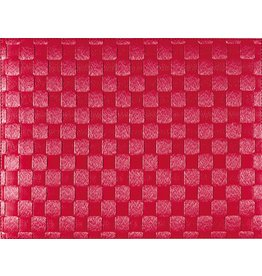 Port-Style PLACEMAT Saleen Ruby Red