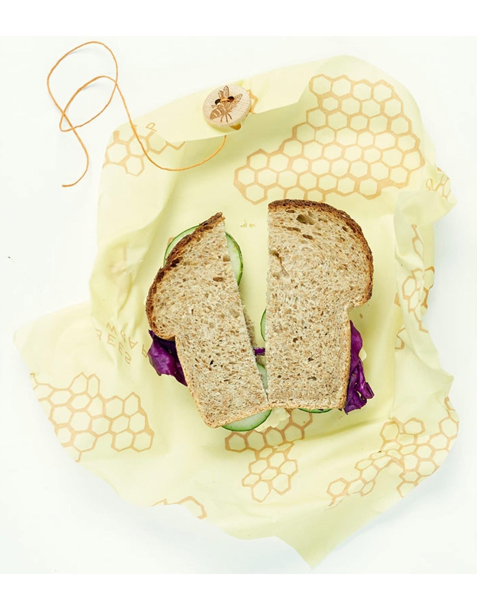 Port-Style BEE-HIVE Sandwich Wrap 32.5 cm.
