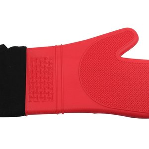 """Port-Style Mitt Silicone 15"""" Red"""