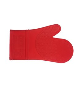 "Port-Style Mitt Silicone 12"" Red"