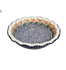 K and U Import Pie Dish Spring Morning