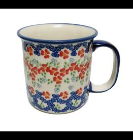 K and U Import Mug Canadian shape 400mL POPPY MEADOW