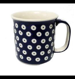 K and U Import Mug Canadian shape 400mL POLKA DOT