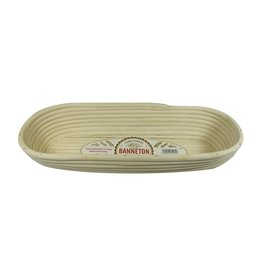 Port-Style Banneton Oval Basket 16x6.3x3""