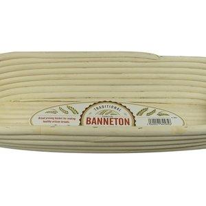 "Port-Style Banneton Oval Basket 16x6x3"""