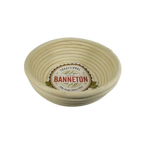 """Port-Style Banneton Round Basket 8""""x3"""""""