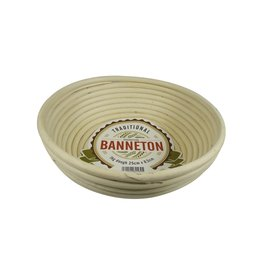 "Port-Style BANNETON Round Proofing Basket 10""x3"""