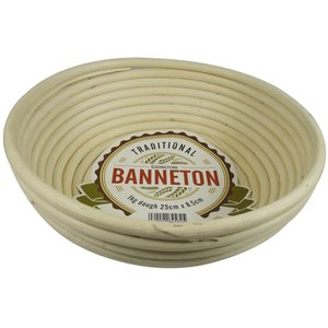 "Port-Style BANNETON Round Proofing Basket 10""x3"""