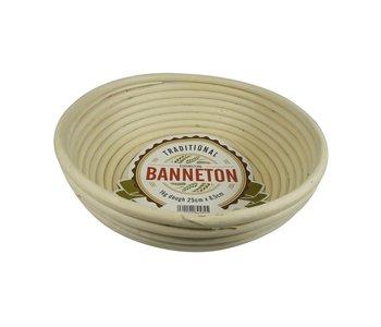 """BANNETON Round Proofing Basket 10""""x3"""""""