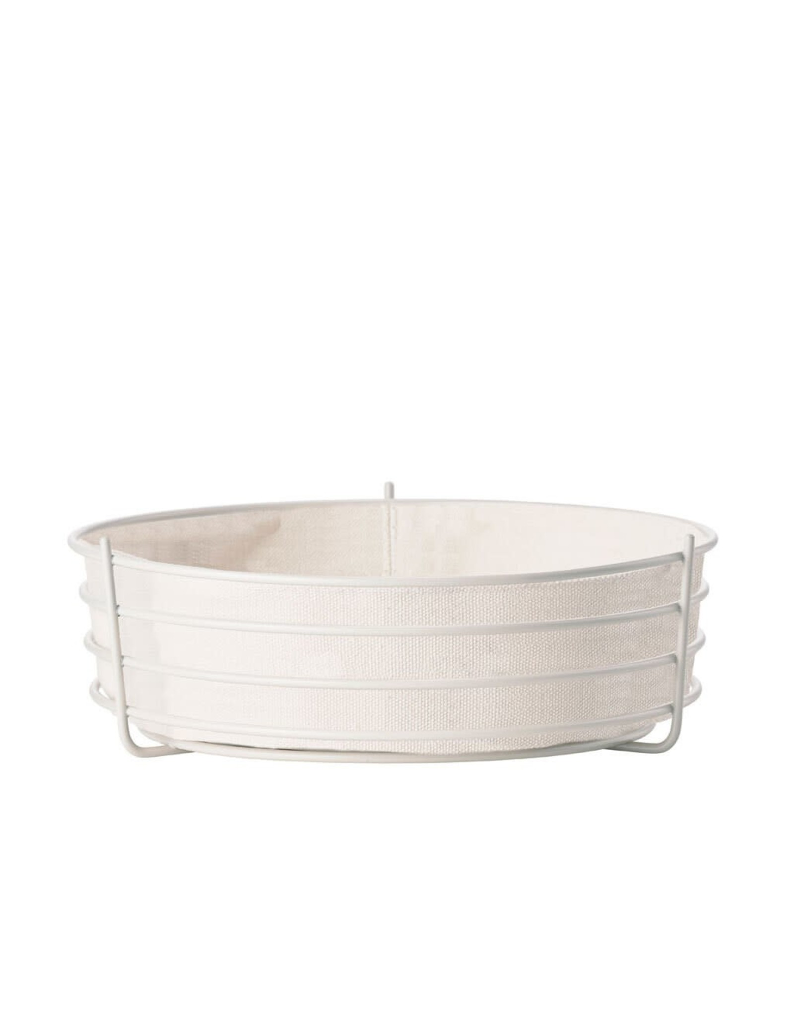 Port-Style BREAD BASKET ROUND METAL WITH LINING 24CM