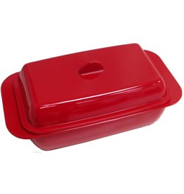 Port-Style BUTTER DISH MELAMINE - 1 LB. - RED