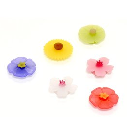 Port-Style Lilypad FLORAL Drink Markers Set/6