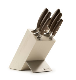 Wusthof EPICURE WUSTHOF Ash wood creme block with 6 knives