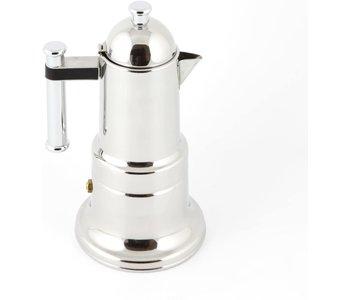 KONTESSA Stainless Steel 4 cups Stovetop Espresso Maker