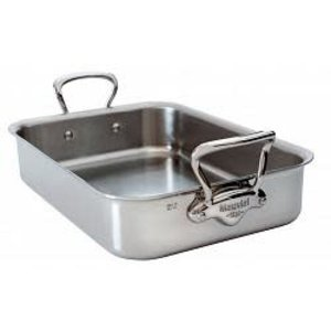 Mauviel MAUVIEL M'COOK ROASTING PAN 40cm X 30cm  WITH CAST Stainless Steel HANDLE