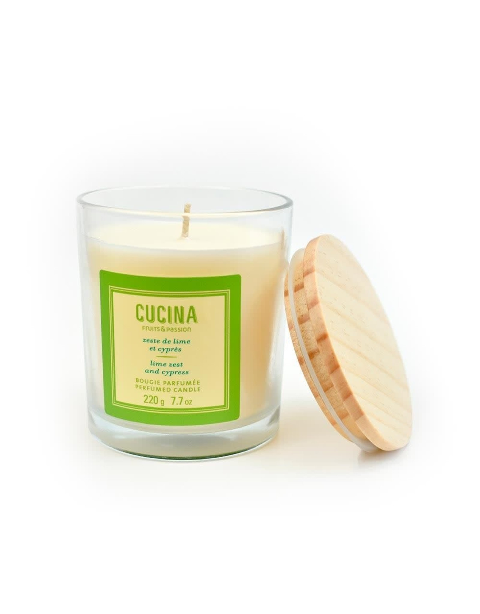 FRUIT & PASSION CUCINA SCENTED CANDLE LIME ZEST 220gr