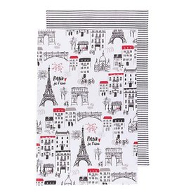 "Danica Tea Towels 2 pack Paris Je T""aime"