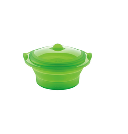 ICM Collapsible silicone steamer with lid LEKUE