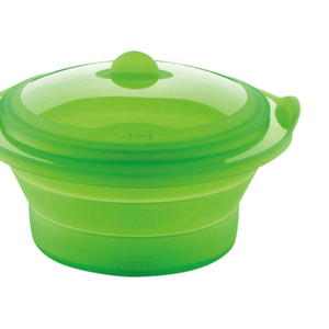 Lekue Collapsible silicone steamer with lid LEKUE