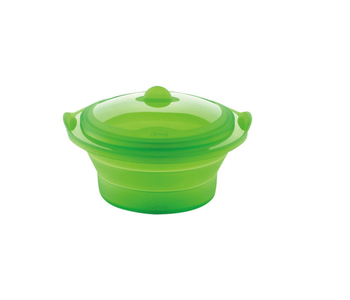 Collapsible silicone steamer with lid LEKUE