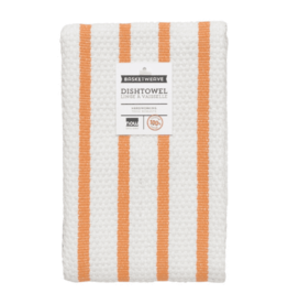 Danica Tea Towel  Basket weave Kumquat