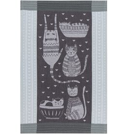 Danica Tea Towel Purr Party Jacquard