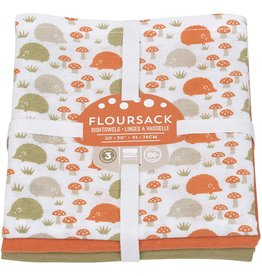Danica Tea Towel 3 pack Flour Sack Happy Hedgehog