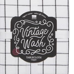"Now Designs TABLECLOTH Vintage Wash Black 60"" x 90"""