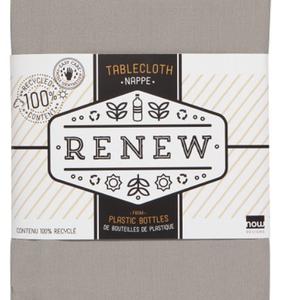 "Now Designs TABLECLOTH RENEW SOLID COBBLESTONE 60"" X 90"""