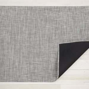 """Chilewich WOVEN FLOORMAT IKAT WHITE/SILVER 23"""" X 36"""""""