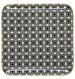 Danica Square Plate Black/ Yellow( 7.5 inch)