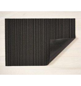 """Chilewich Utility Mat Skinny Stripe Shag STEEL 24"""" x 36"""""""