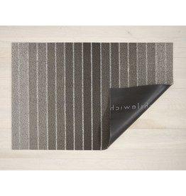 "Chilewich Utility Mat Block Stripe Shag TAUPE 24"" x 36"""