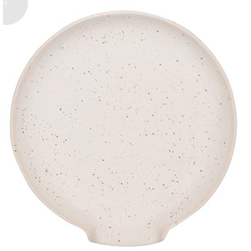 Now Designs Spoon Rest Reactive Glaze Ivory