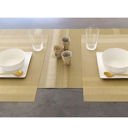 "Chilewich Runner 76"" x 14"" Tuxedo Stripe Gold CHILEWICH"