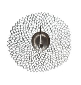 Chilewich Placemat Pressed Dahlia silver