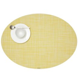 Chilewich Placemat Mini Basketweave Oval DAFFODIL