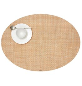 Chilewich Placemat Mini Basketweave Oval CANTALOUPE