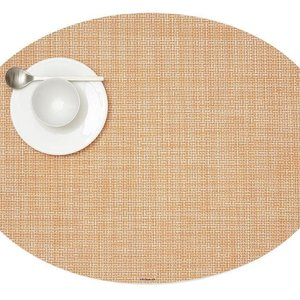 Chilewich Placemat Mini Basketweave Oval CANTALOUPE