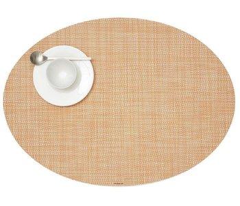Placemat Mini Basketweave Oval CANTALOUPE