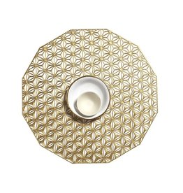 Chilewich Placemat Kaleidoscope pressed Brass CHILEWICH