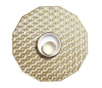 Placemat Kaleidoscope pressed Brass CHILEWICH