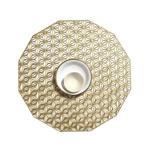 Chilewich Placemat Kaleidoscope pressed Brass CHILEWICH