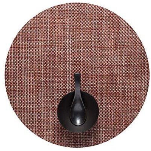 Chilewich Placemat Basketweave Round TERRA